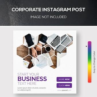 Modello psd post instagram aziendale