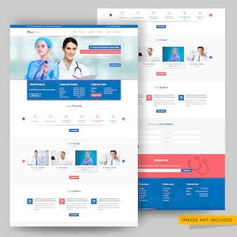 Modello psd sito web di consulenza medico e ospedaliera