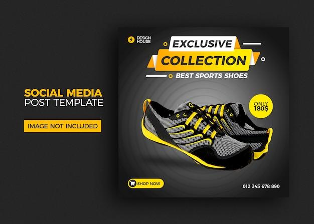 Modello quadrato con vendita di scarpe per post di social media