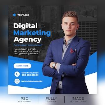 Modello quadrato per post di social media marketing digitale