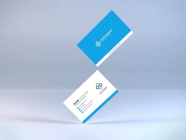 Modello realistico di mockup di biglietti da visita psd