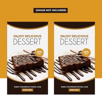 Modello storia social media dessert
