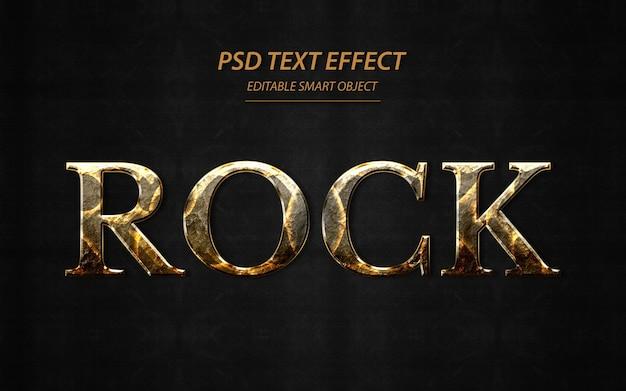 Modello struttura effetto testo rock