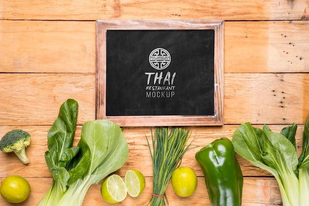 Modello tailandese di concetto dell'alimento
