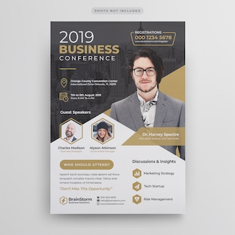 Modello volantino - conferenza d'affari