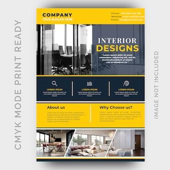Modello volantino - interior design