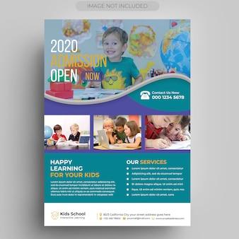 Modello volantino - istruzione per bambini