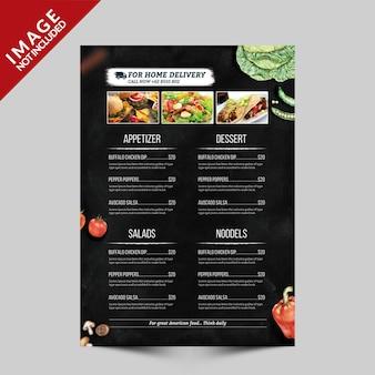 Modello volantino - menu cibo
