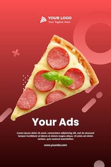 Modello volantino - pizza instagram psd
