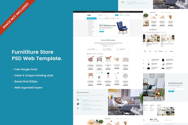 Modello web del negozio di mobili