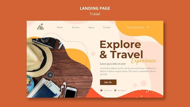Modello web della pagina di destinazione del viaggio