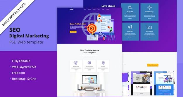 Modello web di marketing digitale seo