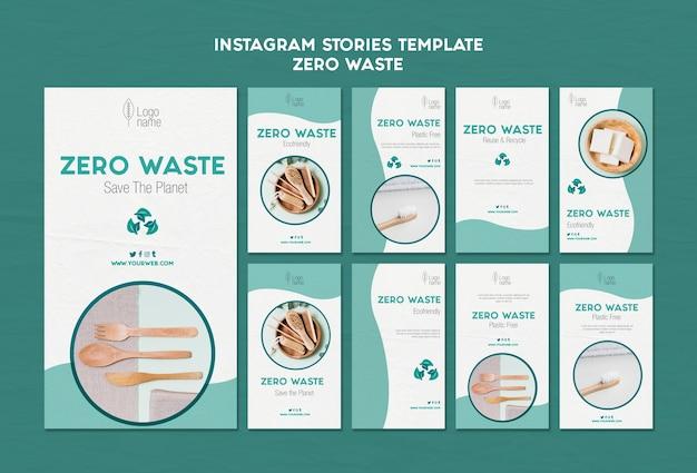 Modello zero di storie di instagram waster