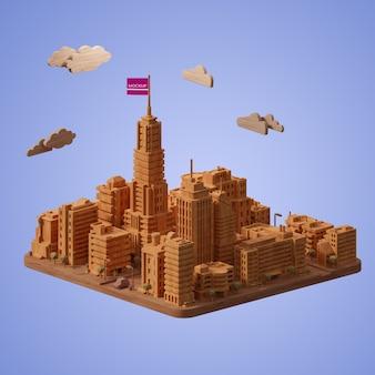 Modelo de construcción de ciudad simulada