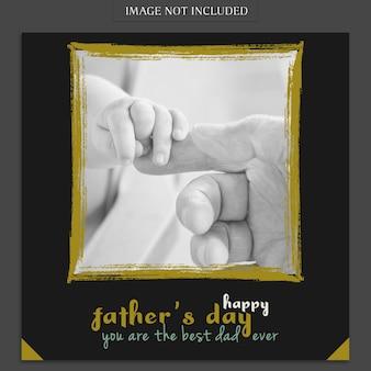 Modelo de capa de dia dos pais com as mãos