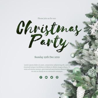Modelo de capa de festa de Natal criativa