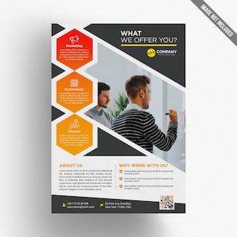 Modelo de folheto empresarial colorido