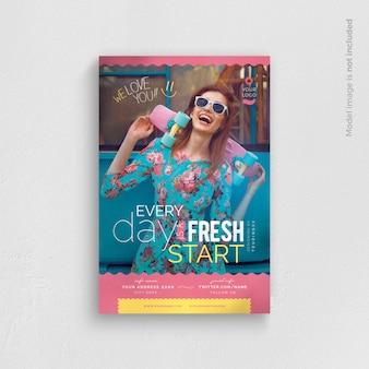 Modelo de Folheto - todo dia é um novo começo