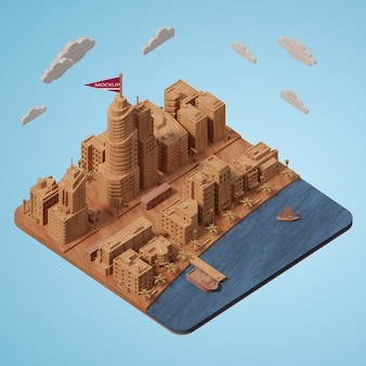 Modelo de edificios de ciudades simuladas