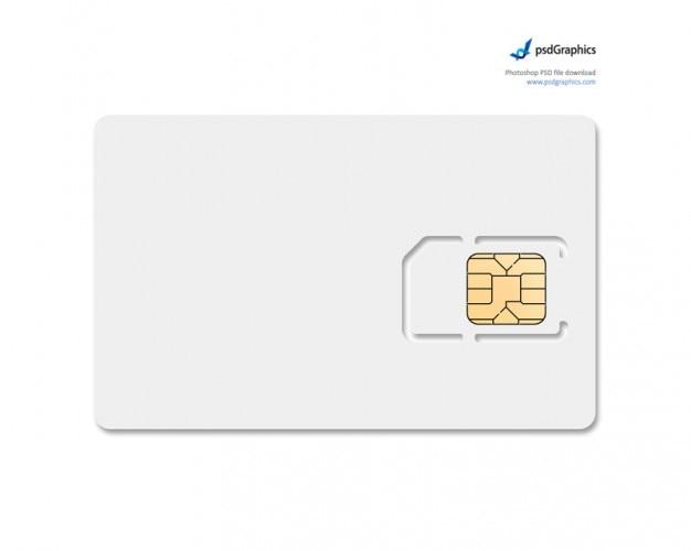 Modelo de la tarjeta de teléfono con chips