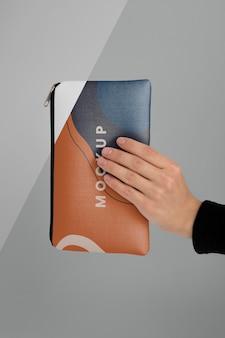 Modelontwerp voor plat canvas zakje