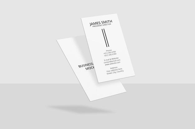 Modelontwerp voor verticaal visitekaartje