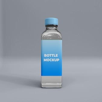 Modelsjabloon voor transparante glazen flessen