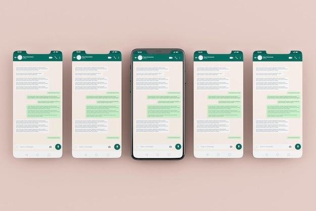 Modelsjabloon voor whatsapp mobiele interface