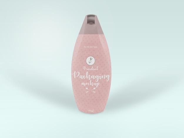 Modelverpakking met schoonheidsproducten voor mock-ups
