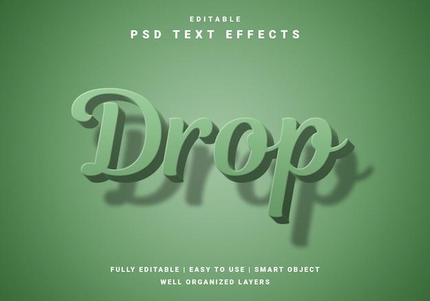 Modern 3d drop-teksteffect