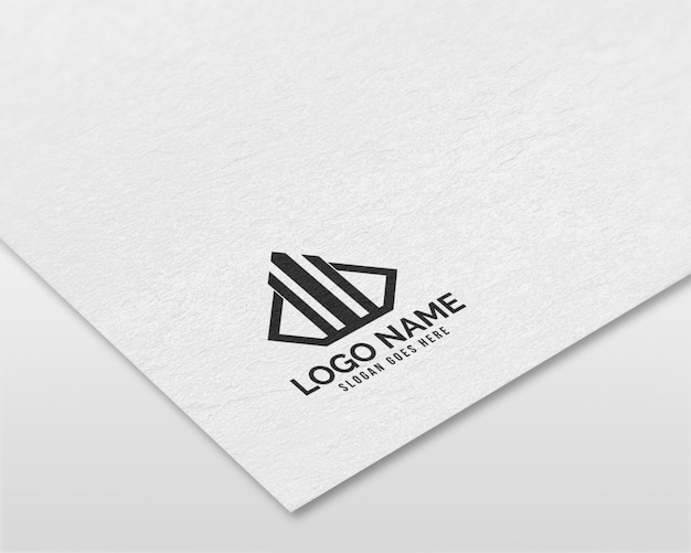 Modern 3d realistisch papieren logo mockup