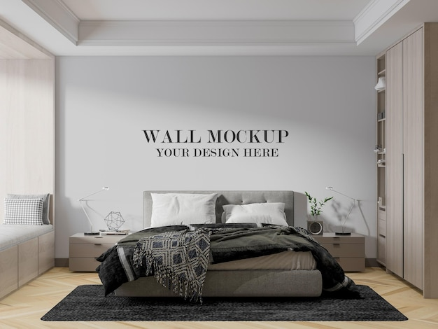 Modern appartement slaapkamer muurmodel