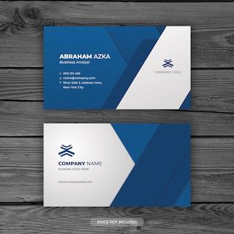 Modern blauw visitekaartjeontwerp met bedrijfsconcept