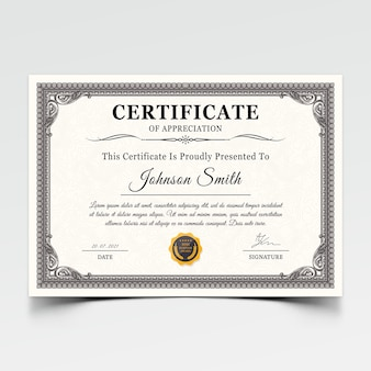 Modern certificaat award sjabloon