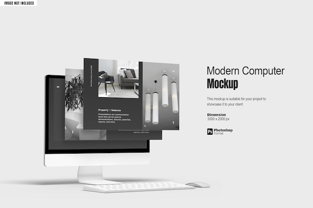 Modern computerschermmodel v2