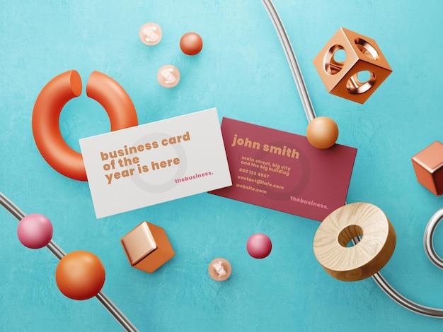 Modern concept art visitekaartje mockup tempalte