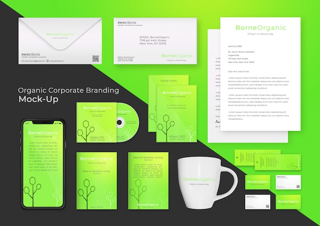 Modern corporate branding mock up