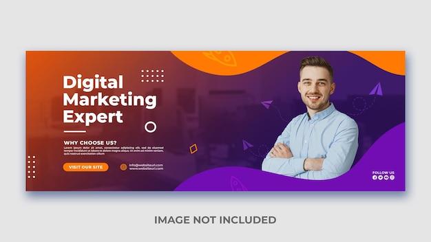Modern digitaal marketingbureau en zakelijke promotie en creatieve webbannersjabloon