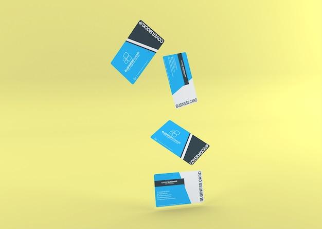 Modern dubbelzijdig visitekaartje mockup