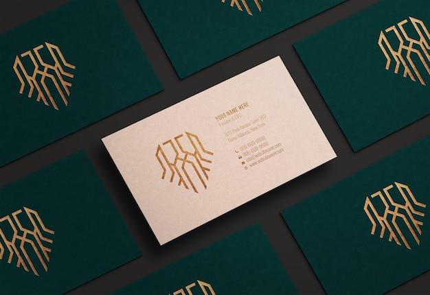 Modern en luxe visitekaartje mockup
