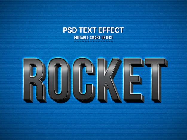 Modern en stijlvol 3d lettertype-effect met schaduw