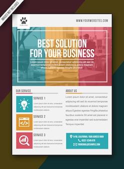 Modern flyer blauw geel rood brochure poster - a3-formaat