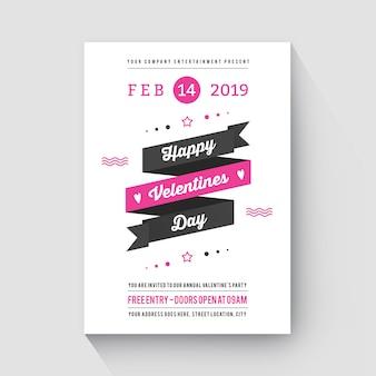 Modern flyer valentines day blackpink