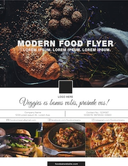Modern food flyer design
