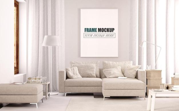 Modern frame mockup voor woonkamer