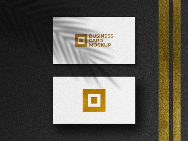 Modern gouden visitekaartjesmodel