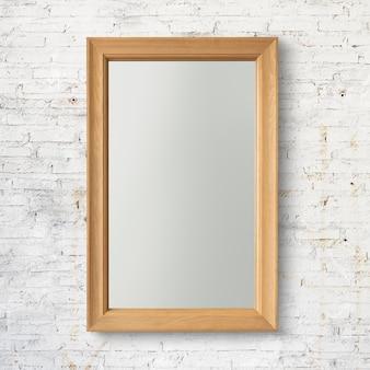 Modern houten frame psd-mockup met ontwerpruimte