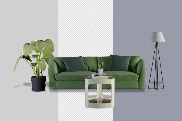 Modern interieur meubilair mockup ontwerp