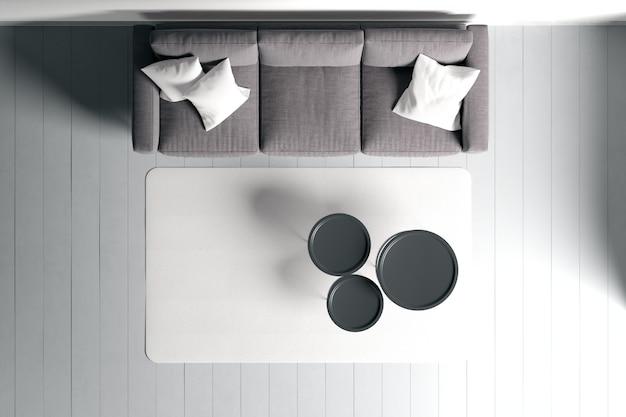 Modern interieur van woonkamer