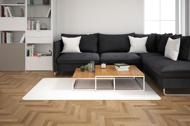 Modern interieur van woonkamer Gratis Psd
